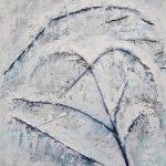Зима. За окном, картон, масло, муранское стекло собственного плавления,50х60- Марго Пугаченко