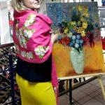 Представление художника-Екатерина Черненко-Платок с вышивкой