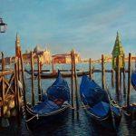 Воспоминания о Венеции,холст,масло,60х80см,2019 г.-художник Олег м. Караваев