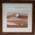 В пустыне, мозаика из не окрашенной яичной скорлупы, Анастасия Косик
