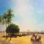 Египет-Вольная копия Айвазовского, холст, масло, 50х50, 2017 г.-Анастасия Алёхина