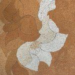 Косик Анастасия, Цветы, мозаика из неокрашенной яичной скорлупы, 20х30, 2018г