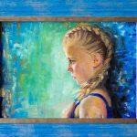 Портрет девочки, картон, масло, 30х40, 2014 г. -Анастасия Алёхина