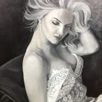 Портрет девушки, холст, масло, 45х50, 2018 г.-Анастасия Алёхина