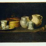 Хуан де Сурбаран. «Посуд і млин для приготування шоколаду», 1640-і рокиш