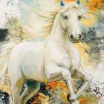 Белый-конь-60Х80-холст,-масло,-акрил-2019-Орлова-Юлия