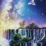 Долина звезд, акрил, холст 35х80 - купить картину