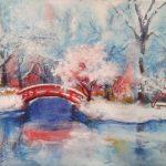 Зима-на-озере-40Х30-бумага,-акварель-2017-Орлова-Юлия