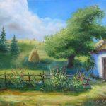 Карпаты-дворик-60Х50--2017-холст,-масло-Орлова-Юлия-