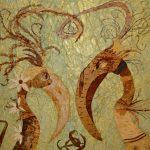 Неземное притяжение, 39.5х59.5, ошибана,Т.Дубровина