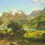 Озеро Люцерн, (вольная копия картины Альберта Бирштадта), холст, масло, 90х130, 2020 г. -Анастасия Алёхина