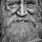 Портрет мужчины, графитовые карандаши, А5, Негода Евгения, 2020