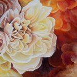 Розы, холст, масло 20х30см