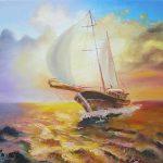 Россекая-волны-40Х30-холст-масло-2015