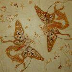 Рыбы-бабочки, 49х55, ошибана, Т.Дубровина