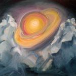 Сатурн, серия Планеты и Светила; 50х40; масло, картон; 2017; Художник Анна Колесник