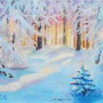 Утро-в-лесу-40Х30-Холст-масло-2015-Орлова-Юлия