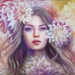 Цветочная королева, акрил, холст, 50х70см