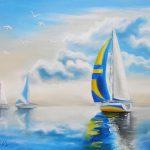 Яхты-60Х50-холст,-масло-2015-Орлова-Юлия