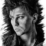 Alan Wilder, Depeche Mode, А5, графитовые карандаши, 2019 - Негода Евгения