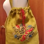 Торбочка, льон, муліне peri, вишивка хрестом із застосуванням канви. 35х45-Катерина Черненко