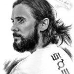 Jared Leto, А5, графитовые карандаши, 2021 - Негода Евгения