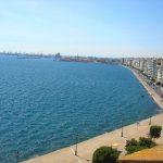 Вид на Порт Салоники-написать пейзаж маслом