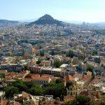 Гора Ликавитос.Вид с Акрополя.