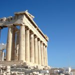 Парфенон-Греческий пейзаж