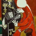 Пианино,вольная копия картины П.Пикассо,холст,масло,40х60,2019 г.-Олег М. Караваев