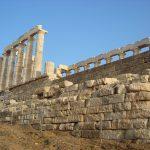 Храм Посейдона- пейзаж маслом на заказ