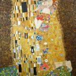 Поцелуй (вольная копия Г.Климта, холст,масло,60х80, 2019 г.-художник Олег М. Караваев