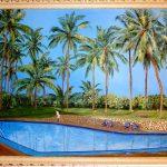 Сбывшаяся голубая мечта (Шри Ланка,Коломбо),холст,масло, 40х60,2011 г.-художник Олег М. Караваев