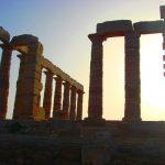 Храм Посейдона,заказать картину маслом, акварель