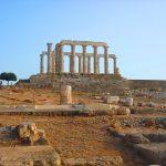 Храм Посейдона- пейзаж маслом на заказ, Греция