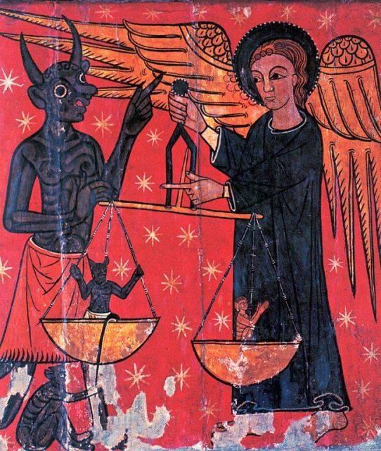 Цвет красный, заказать картину-копию шедевра-Средневековая живопись, Неделя о Страшном суде