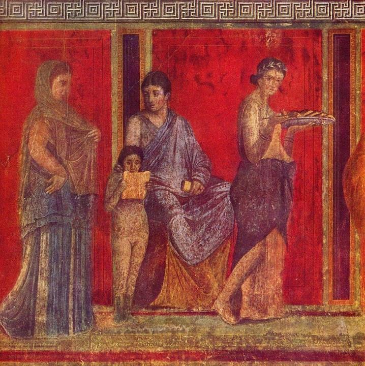 Цвет красный, заказать картину, Villa of Mysteries