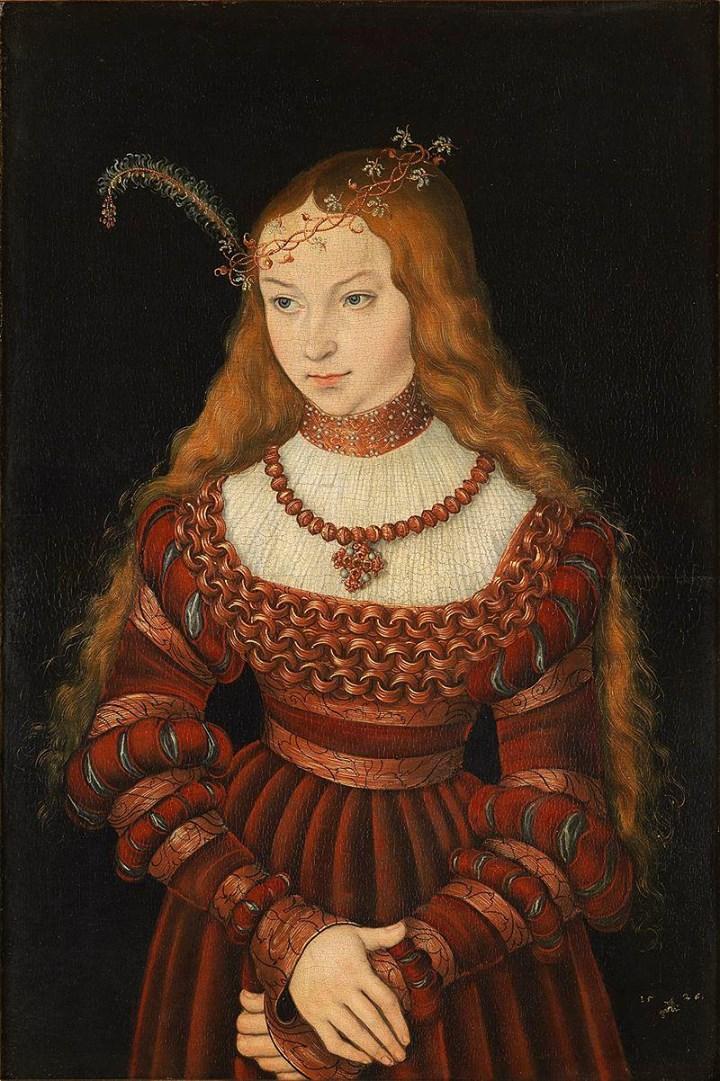 «Портрет Сибиллы Клевской» Лукаса Кранаха Старшего, 1526 год,_картины на заказ