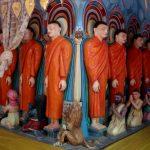В одном из островных монастырей,работы искусных скульпторов и художников