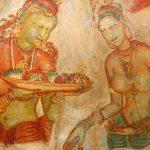 Чудо света Сигирия-рисунки в пещере