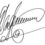 Автограф на добрую память о творческой встрече
