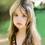 3-е место-Девочка на природе, iPad Pro, программа Proceate - Юлия Блакита