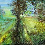 ПЗС - Рассвет в лесу, картон, масло, 45х56, 2009 г.- Олег Троян