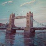 ПЗС - Тауэрский мост над Темзой, холст, масло, Анна Павлова