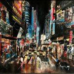 ПЗС - New York , дорога после дождя, холст, масло, 2012г.- Карпюк Марк