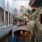 Музей Пабло Пикассо,интерьер,дворик