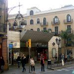 Ст.Метро Фонтана-100 м от нашего отеля, Барселона