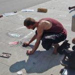 Уличный художник.Барселона