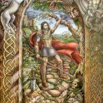 Золота легенда про Короля Артура, холст, олія, 90х120, 2017-Ірина Стасюк