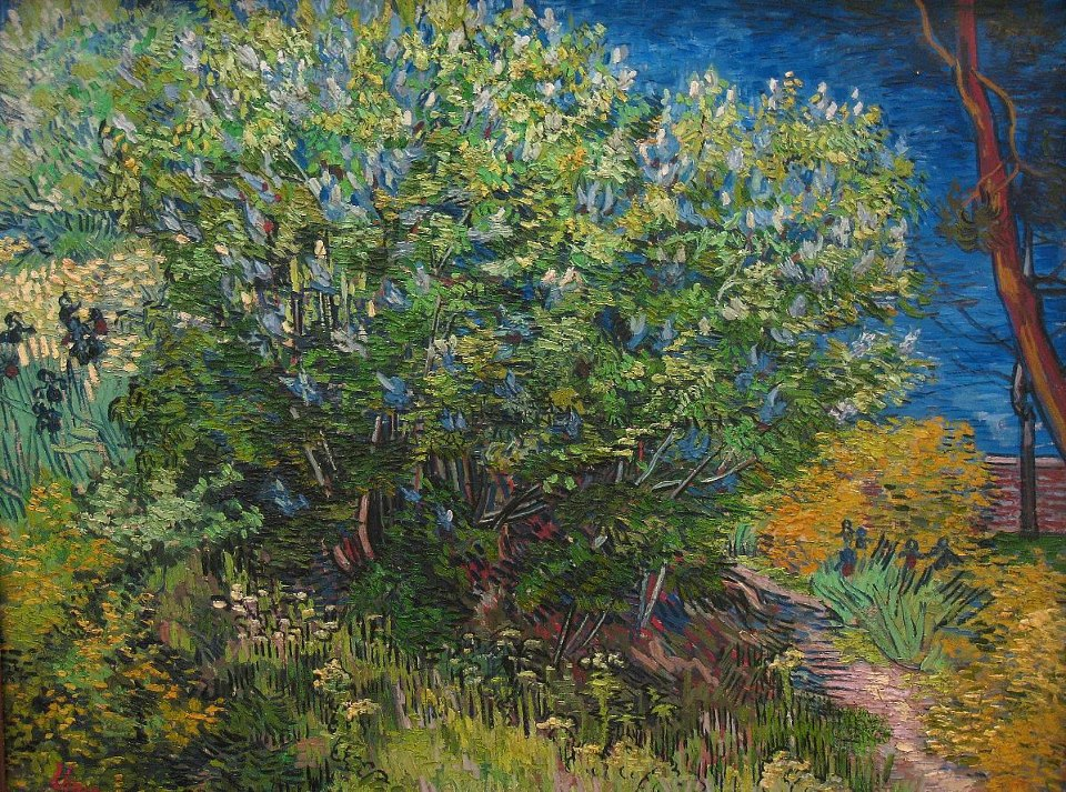 Vincent Van Gogh (1853-1890) Lilac Bush (Spring 1889).The Hermitage Museum, St. Petersburg